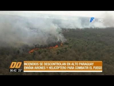 Incendios se descontrolan una vez más en Alto Paraguay