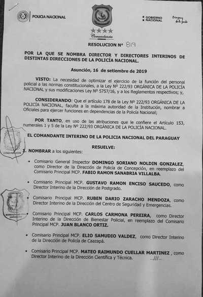 Concepción: Cambian a director policial
