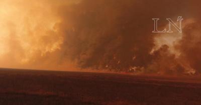 Arde el Chaco Paraguayo.