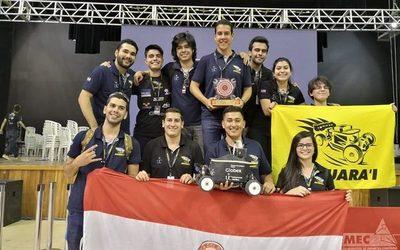 Robot construido por paraguayos obtuvo el primer lugar en Brasil