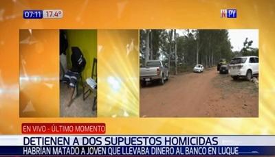 Capturan a sospechosos de fatal atraco en Luque