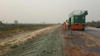 Ruta Bioceánica emplea la hidrosiembra para proteger los taludes y evitar la erosión