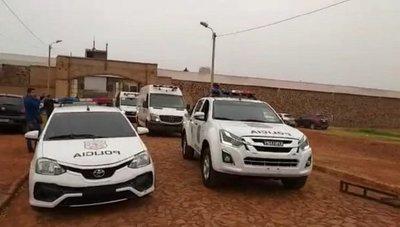 La irreal fuerza de 100 policías que escoltaron a 22 reos en Pedro Juan