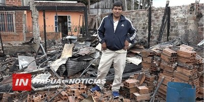 LO PERDIERON TODO EN EL INCENDIO DE SU VIVIENDA Y AHORA LUCHAN POR REPONERSE
