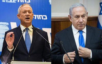 Netanyahu y Gantz, codo a codo en elecciones en Israel