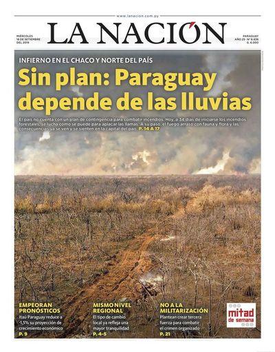 Edición impresa, 18 de setiembre de 2019