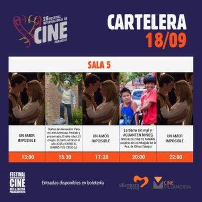Edición 28 del Festival Internacional de Cine del Paraguay se inicia este 18 de setiembre