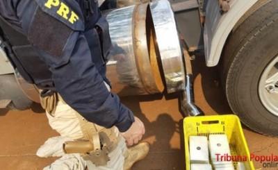 Camionero paraguayo cae con casi 100 kg de droga en Santa Terezinha