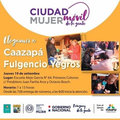 Ciudad Móvil de la Gente prestará servicios este jueves en Fulgencio Yegros