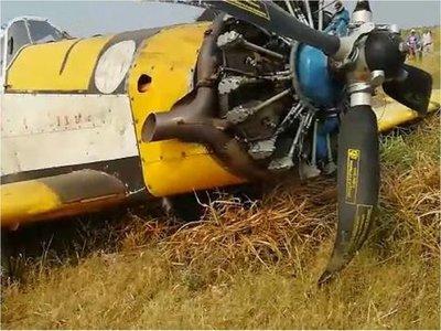 Avión hidrante sufre desperfectos mecánicos en el Chaco