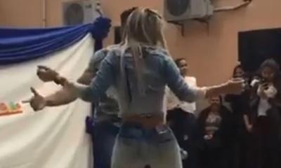 Sole Cardozo bailó en una escuela y estalló el escándalo