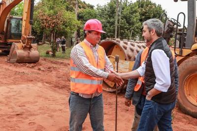 Presidente verificó nuevos tramos de asfaltados en Central
