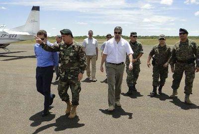 Abdo recibió reporte sobre apoyo de militares a incendios y operativo retorno de desplazados