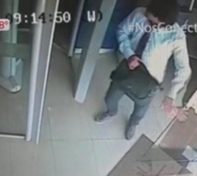Revelan circuito cerrado de intento de robo a sucursal bancaria