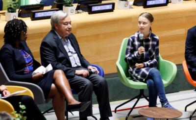 Jóvenes activistas piden en la ONU acciones contra el cambio climático