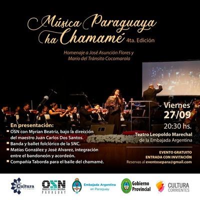 "Preparan la cuarta edición del festival ""La Música Paraguaya ha Chamamé"""