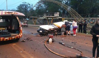 Taxista fallece en accidente en Hernandarias