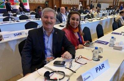 Dirigentes paraguayos presentes en el Congreso de la IAAF