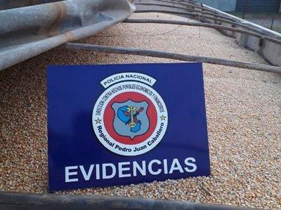 Decomisaron más de 36.000 kilos de maíz en Pedro Juan Caballero