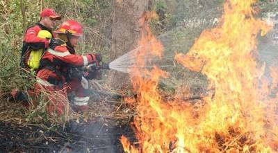 Siete nuevos focos de incendios en la Cordillera del Ybyturuzú