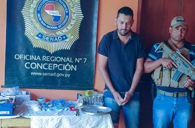 Detienen a joven con drogas en Concepción