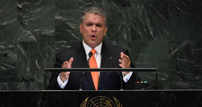 Presidente colombiano acusa a su par de Venezuela ante la ONU