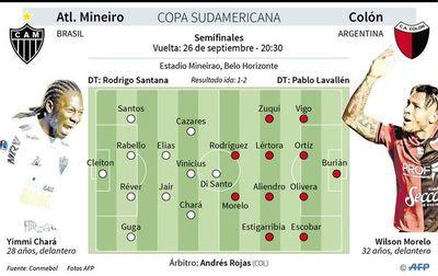 Mineiro busca la remontada contra Colón