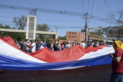Hubo caos y movilizaciones en zona del campus de la UNA en San Lorenzo