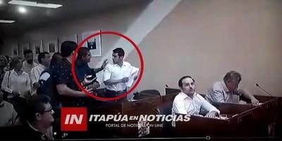 CONCEJAL AGREDIDO  REPUDIÓ LA ACTITUD DEL FUNCIONARIO MUNICIPAL