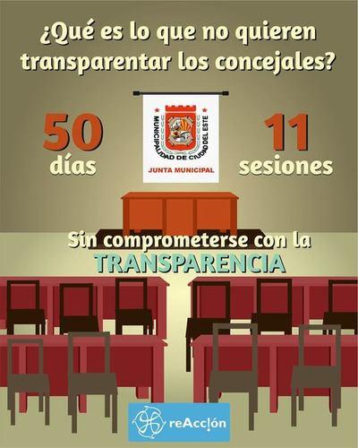 Concejales de Ciudad del Este evaden compromisos con la educación y transparencia