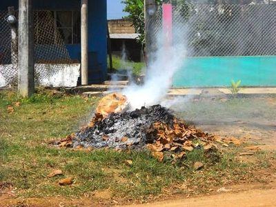 Quema de basuras, una práctica que debe ser multada en Concepción