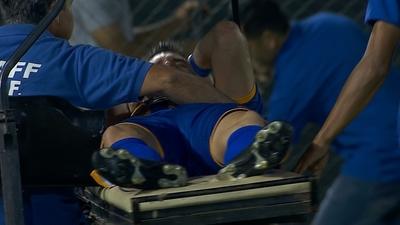 Grave lesión de Luis Neri Caballero