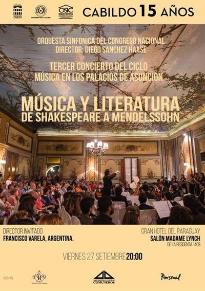 Música en los Palacios de Asunción, este viernes en el Gran Hotel del Paraguay
