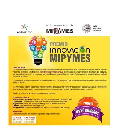 Unión Industrial Paraguaya lanza 'Premio Innovación MIPYMES'