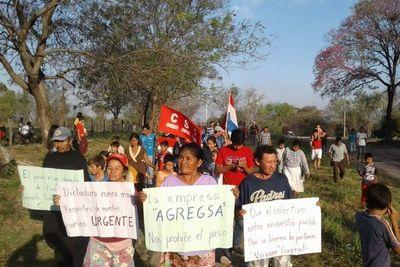 Pobladores de Guyrati se movilizan contra medida arbitraria de empresa