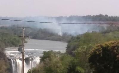 Voráces incendios en Minga, San Alberto y Pdte. Franco