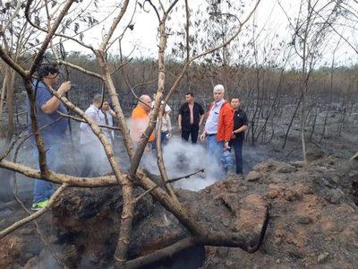 Unas 30 hectáreas del Parque Guasu fueron afectadas por el incendio