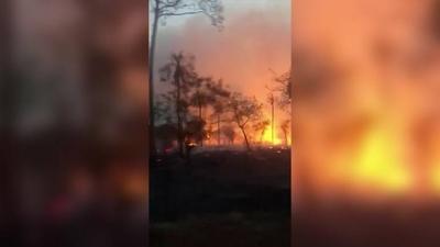 HOY / Incendio San Bernardino: SEN prepara aviones y personal para sofocar las llamas