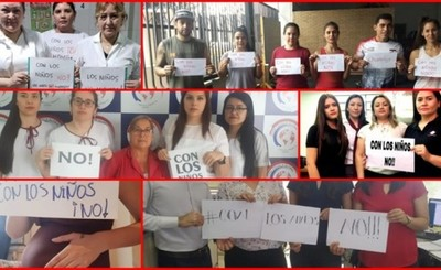 Masiva participación en campaña #ConLosNiñosNo