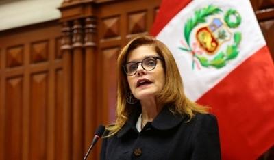 Renuncia la vicepresidenta de Perú, Mercedes Aráoz