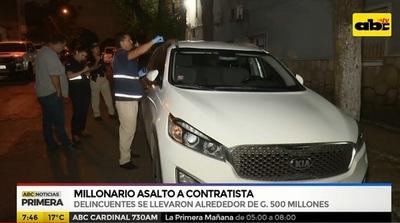 Delincuentes se llevan casi G. 500 millones de contratista