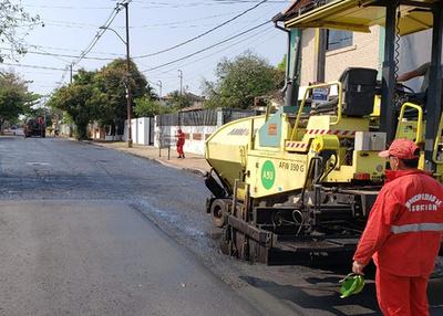 Intensifican obras viales para mejorar circulación vehicular en Asunción