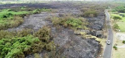 Responsable de incendio en Parque Guasu se expone a pena de hasta 8 años de cárcel