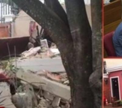 Destruyen garita frente a casa de los Zacarías