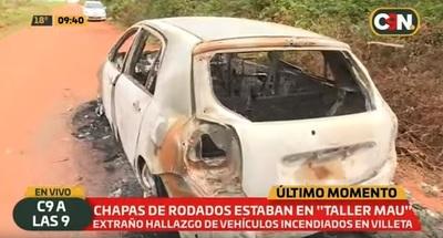 Incineran autos denunciados como robados