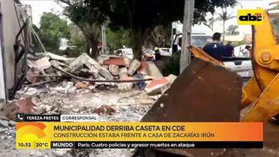 CDE: Derriban caseta policial de los Zacarías
