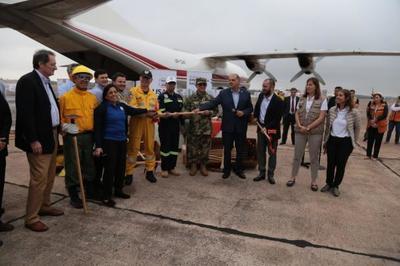 Paraguay recibió equipos donados por el Gobierno de Estados Unidos para combatir incendios