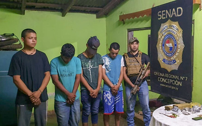 Detienen a jóvenes con drogas en Concepción