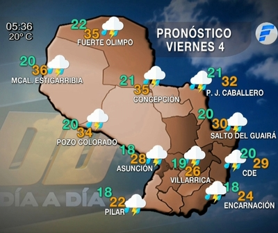 Lluvias para hoy viernes