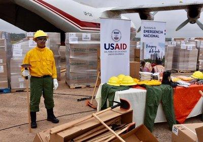 Paraguay recibe de EE.UU modernas herramientas y equipos para combate a incendios forestales